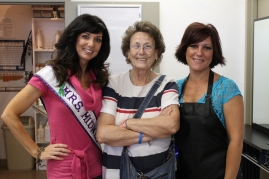 Mrs. Midwest with Bonnie Hopson of Equality and Christy Garlick of Norris City