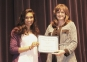 Puja Mehta of Harrisburg accepts the Sam Porter Freshman Chemistry Award from presented Kim Martin.