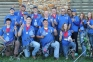Members of SIC's National Championship Archery Team include, kneeling l-r, Aaron Head, Harrisburg; Jordan Walker, Carrier Mills; Trevor Nelson, Carmi; and Hannah Dudley, Stonefort.  Standing, l-r, Josh Bailey, Carrier Mills; Tyler Butts, St.  Peter, Ill.; Kasey Herrin, Marion, Ky.; Allen Kuhnert, Taylorville, Ill.; Dylan Davis, Harrisburg; Eric Janssen, Kankakee, Ill.; Clayton Hall, Grayville, Ill.; Julian Rodriguez, Carrier Mills; Kira McCalip, Rantoul, Ill.; Amber Hays, Kinmundy, Ill.; and Shawna Brown, Harrisburg.
