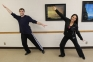 Jennifer Roehm, Spanish Instructor, and her partner  Sean Partain of Harrisburg will be performing a cha-cha.