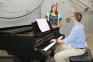 Southeastern Illinois College freshman, Emily Green of Golconda practices with Music Instructor, Cory Garmane during private vocal lessons.
