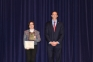 Casper Johns of Omaha (left) received the Government Award presented by Matt Lees, SIC political science instructor.