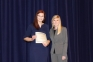 Mattie McGowan of Eldorado accepted the Outstanding Business Student Award from Kelsie Bond, Business Instructor.
