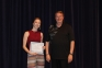 Kaydee Dycus of Mt. Vernon was awarded the Catherine Oldham Memorial Scholarship. The award was presented by Allan Kimball, SIC theatre director.