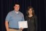 Alex Molinarolo of Eldorado was awarded the Matthew J. Fry Memorial Scholarship by Kim Martin, SIC math instructor.