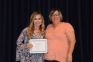 Kaitlyn Etienne of Eldorado was awarded one of two Jaylynn Ferrell Memorial Scholarships by Patti Ferrell.  The scholarship was created in honor of DJ and Patti Ferrell's daughter, a 2011 graduate of the SIC nursing program and registered nurse (RN) at Harrisburg Medical Center, whose life was taken in the Leap Day Tornado.