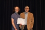 Jamison Williams of Elizabethtown earned the Delta Shrine Club Scholarship, which was established in 1992 to assist students who graduated from Hardin County High School and were enrolled at SIC with high academic achievement.  Presenting the award is Brian Surprenant, SIC Foundation Chair.